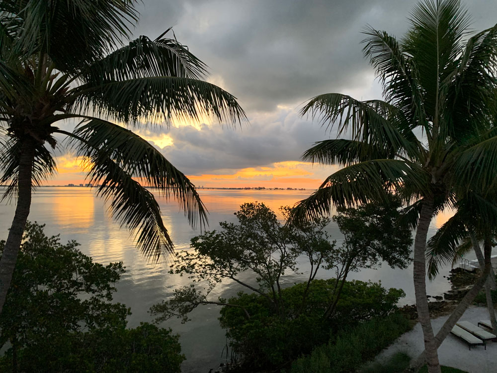 Sunset on Sanibel Island, Periwinkle Cottages